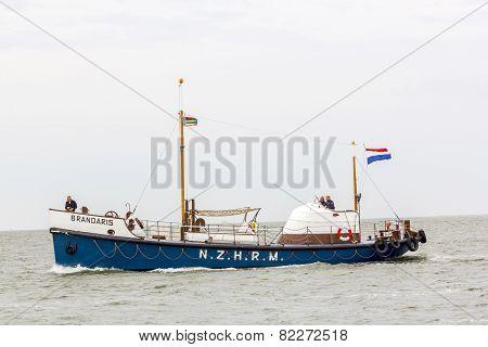 Historic Lifeboat Brandaris At The North Sea
