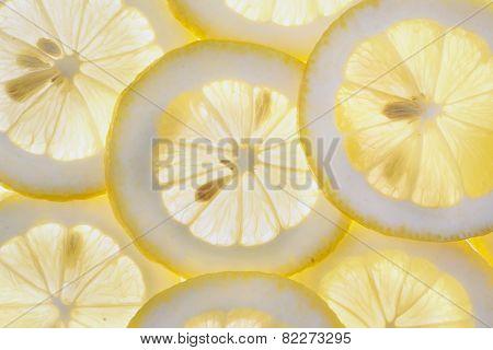 Slice of fresh lemon isolated