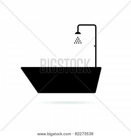 Bathtub Black Vector