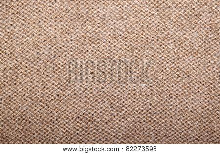 Knitted Fabric Of Wool Yarn Garter Stitch.