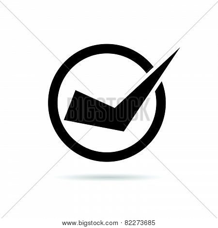 Test Ticking Black And White Vector