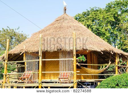 Traditional Thai Thatched Hut