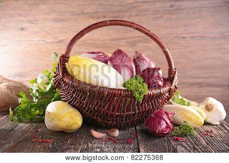 raw vegetable, chicory
