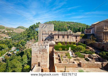 A Terrace At Alcazaba Fort