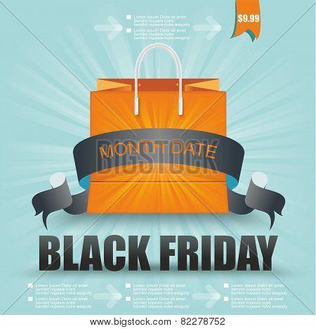 Black Friday. Sale Design.