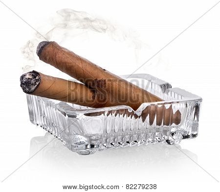 Cigars and ashtray