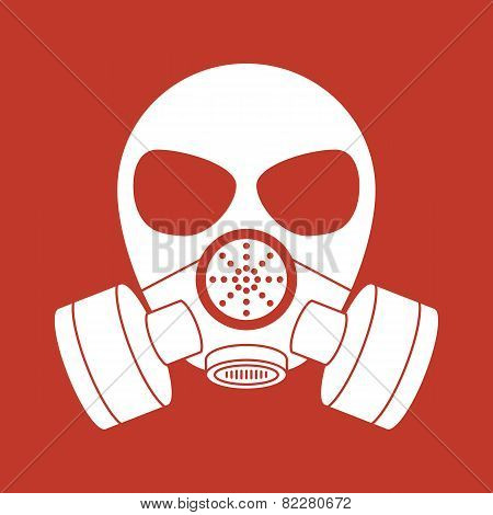 Vector biohazard mask red