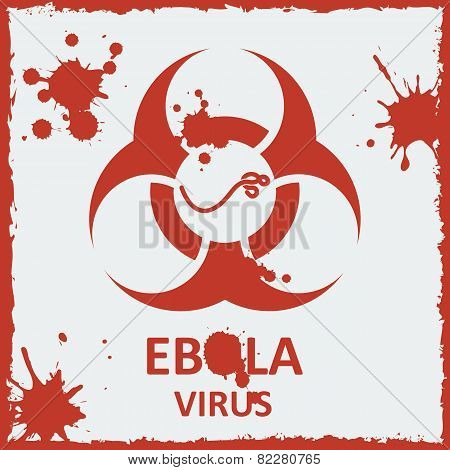 Vector ebola virus and biohazard sign