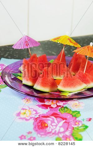 Tropical Slices Of Water Melon
