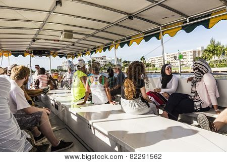 People Travel In Water Taxi In Fort Lauderdal