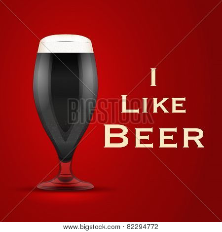Vector Illustration I Like Beer