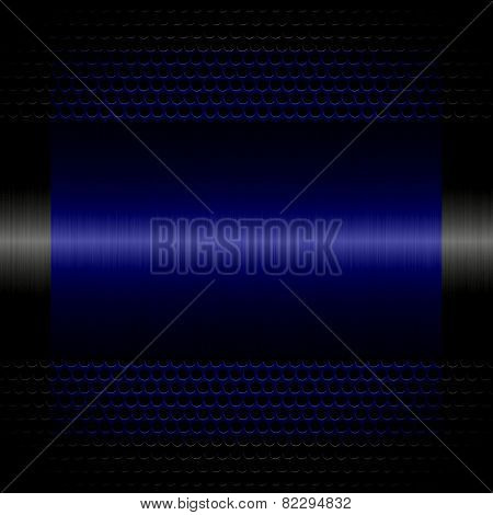 navy steel metal texture with holes metal background