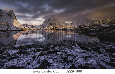 Sunrise Over Reine, Lofoten