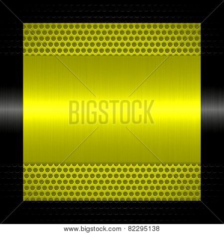 gold metal texture with holes metal background