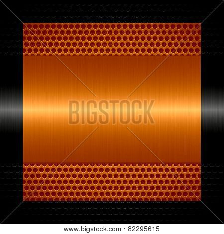 orange steel metal texture with holes metal background
