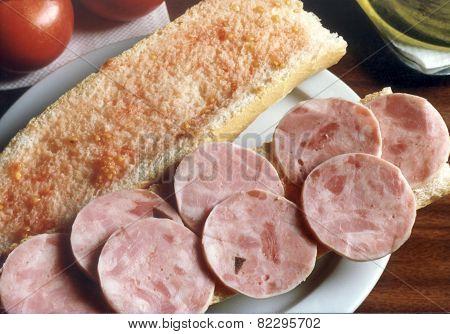 Catalan sausage sandwich