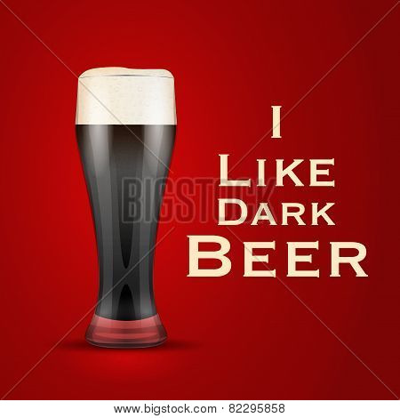 Vector Illustration I Love Beer