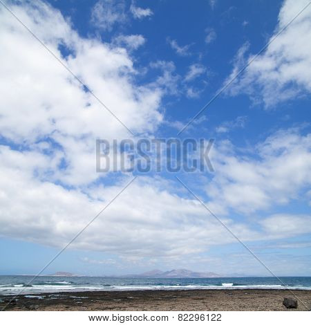 Lanzarote, Canary Islands, As Seen From The North Of Fuerteventura