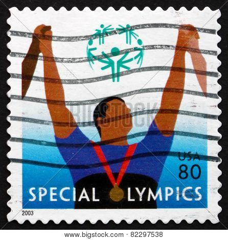 Postage Stamp Usa 2003 Athlete With Medal, Special Olympics