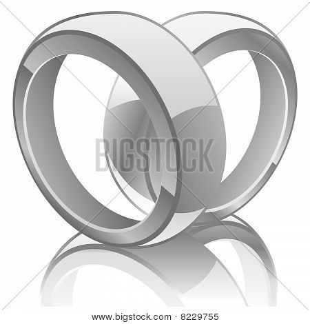 vector illustration of wedding rings