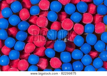 Blue And Red Head Matchsticks