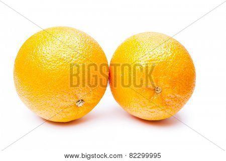 mandarin on white background