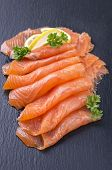 picture of blubber  - smoked salmon - JPG