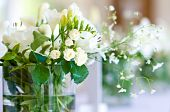 foto of yellow rose  - Beautiful bouquet of white roses and lilies - JPG