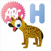 image of hyenas  - cute vector comic cartoon animals abc - JPG