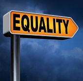 image of equality  - equality road sign and solidarity equal rights and opportunities no discrimination  - JPG
