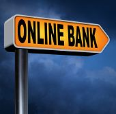 picture of internet-banking  - online internet banking money deposit bank account road sign  - JPG