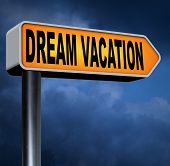 foto of spring break  - dream vacation traveling towards holiday destination summer break  winter or spring vacations to exotic paradise places travel the world and enjoy life road sign  - JPG