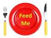 picture of eat me  - Plate with text on it - JPG