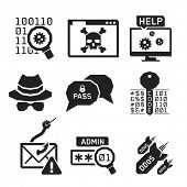 picture of hack  - Hacking icons set 02  - JPG
