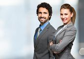 image of latin people  - Portrait of smiling business people - JPG