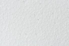 pic of bubble sheet  - close up seamless background and texture of white foamed polystyrene sheet surface in closeup - JPG
