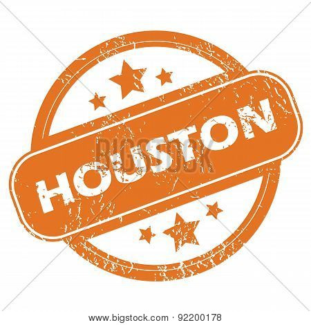 Houston round stamp