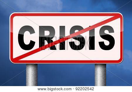 Stop Crisis sign