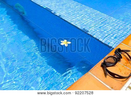 The close view of swimming pool