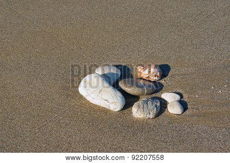Pebble on the beach