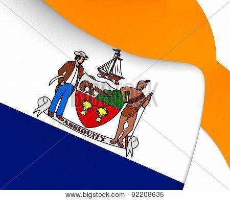 Flag Of Albany, Usa.