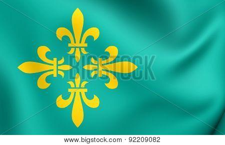 Flag Of Midden-drenthe, Netherlands.
