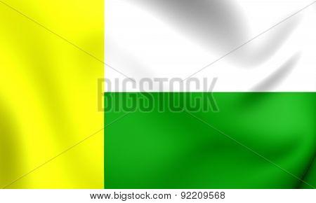 Flag Of Zielona Gora, Poland.