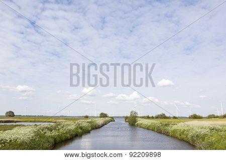 Kanaal Naar Randmeer Bij Bunschoten Spakenburg