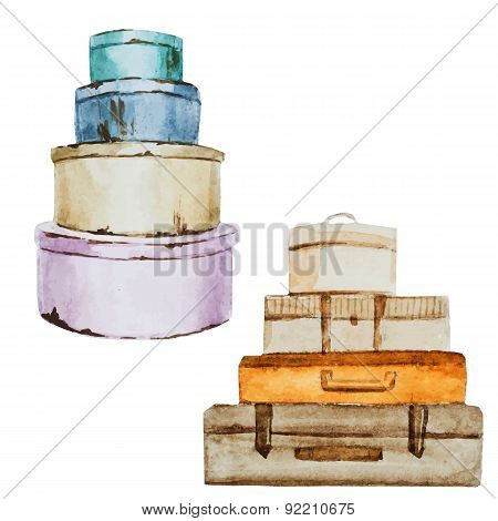 Nice watercolor baggage