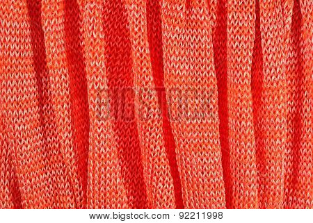 Orange Crumpled Stockinet Background
