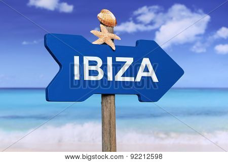 Ibiza With Beach In Summer On Vacation