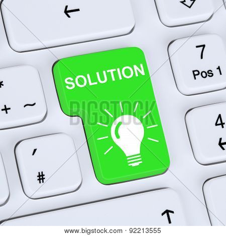 Internet Concept Finding Solution For Problem Conflict Button On Computer