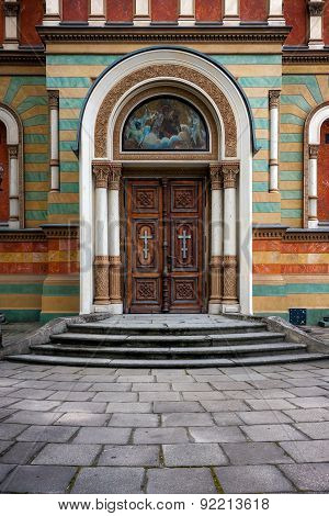 Entrance Of Alexander Nevsky Cathedral