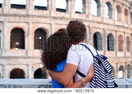 Couple near Colosseum